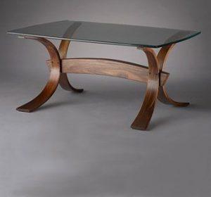 produk laminasi melengkung meja