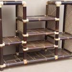 rak bambu coklat