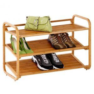 rak sepatu bambu