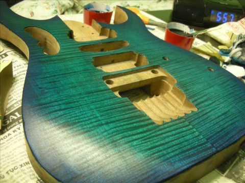 memvinir gitar dengan lem kayu untuk gitar crossbond
